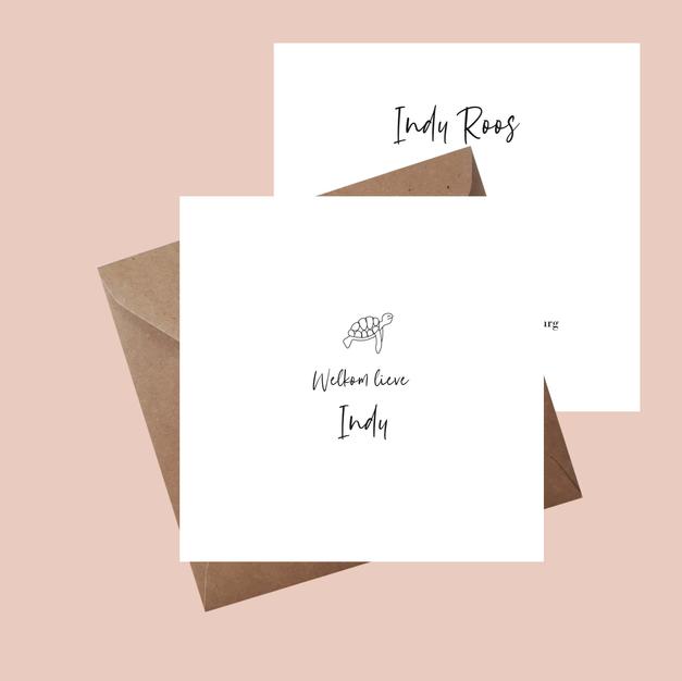 Geboortekaartje Indy