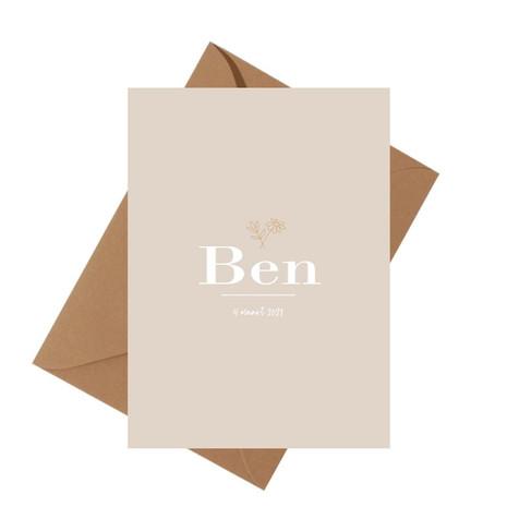 Geboortekaartje unisex Ben