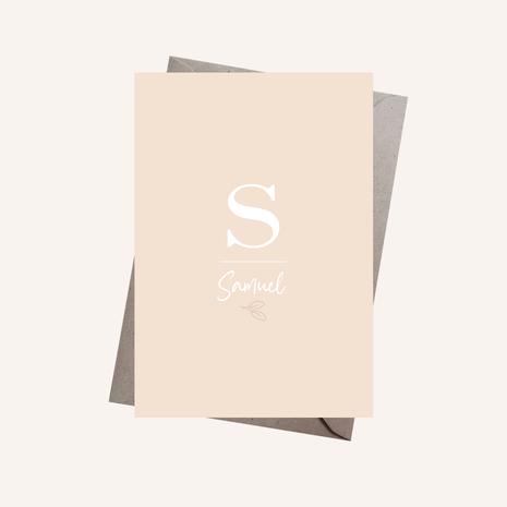 Letterkaartje Samuel