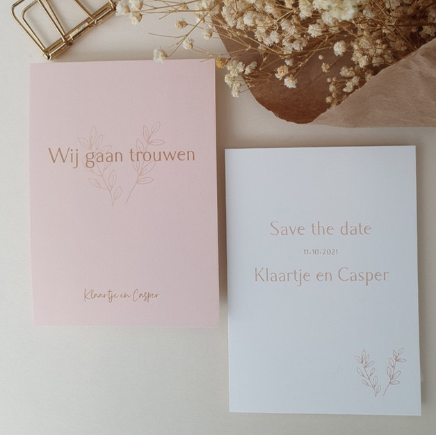 Trouwkaart en save the date
