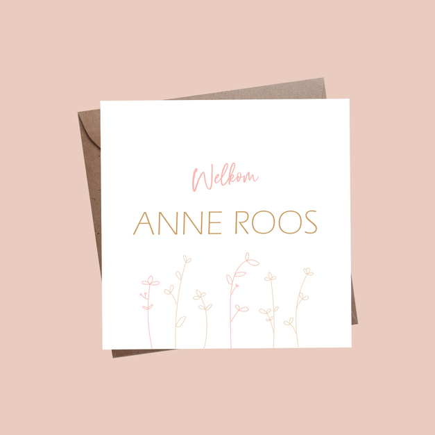 Geboortekaartje Anne Roos