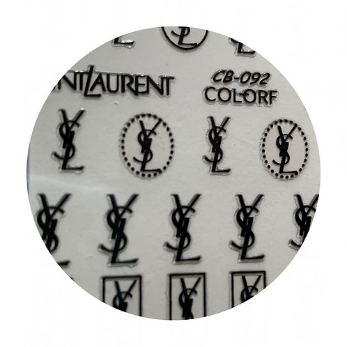 YSL Labels/Stickers Black