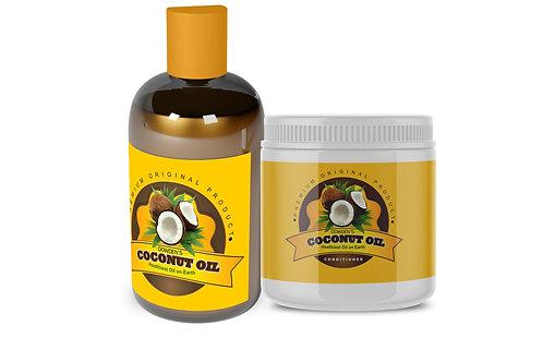 Coconut Oil 8oz & Conditioner Bundle