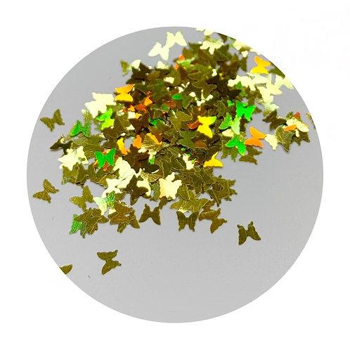 Gold Iridescent Butterflies