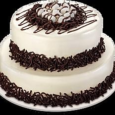 Plain Chocolate Two Layer cake