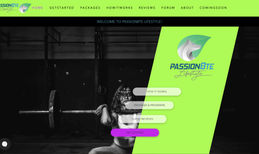 Passion8te Lifestyle Personal Trainer Website completed for @passion8te...