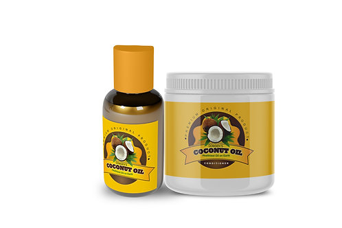 Coconut Oil 4oz & Conditioner Bundle