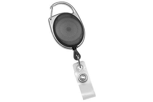 """Badge Reel, Premier Translucent Black Bdg Reel Clr Strap, 34"""" Cord"""