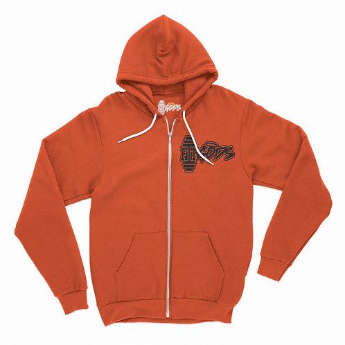 Orange Zipper Hoodie
