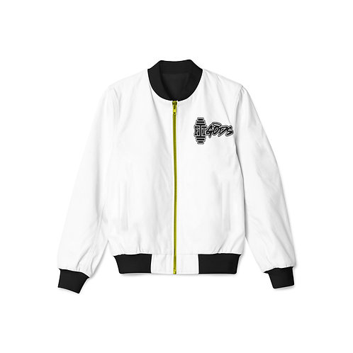 White with Gold Zipper