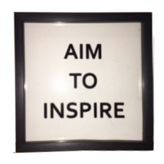 Aim to Inspire: 6x6""