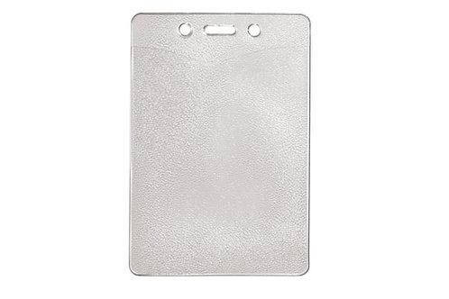 Badge Holder, Vertical, Gov't/Military Clear Vinyl Badge Holder W/Slot/ChainHole
