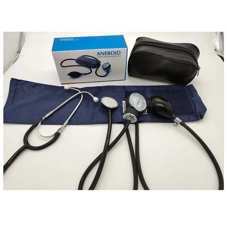 Blood Pressure Stethoscope Meter Aneroid Monitor Cuff
