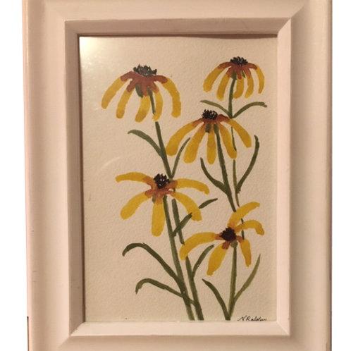 "Sunflowers: 5x7"""