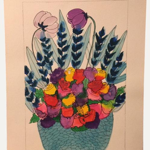 """Flower Pot: 5x7"""""""