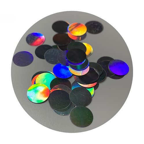 8mm Iridescent Circles