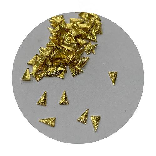 Gold Matte Triangles