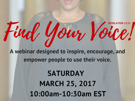 Find Your Voice (part 3 of 3)