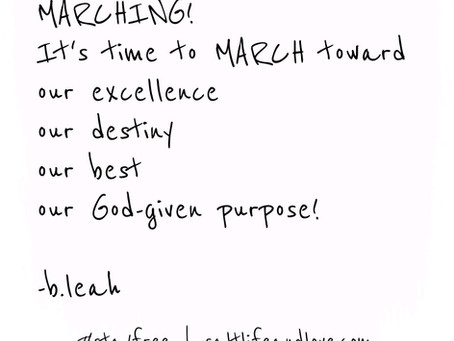 march | forth