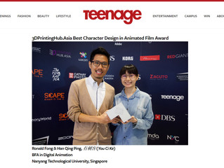 Winners of National Youth Film Awards 2016 - 3DPrintingHub.Asia Best Character Design in Animated Fi