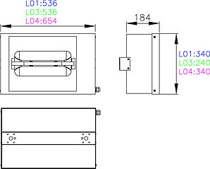 CANOPY LIGHT Overall Dimensions