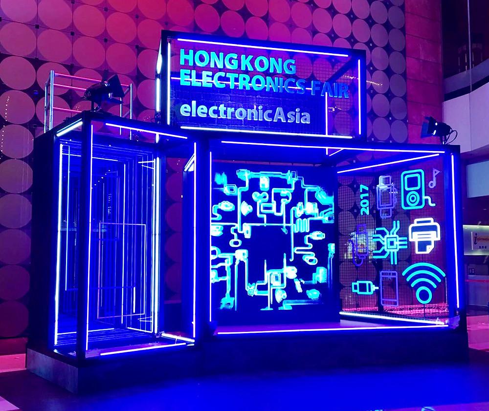 香港秋季電子產品展 3D打印立體招牌燈箱