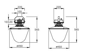HIGH BAY LIGHT Overall Dimensions