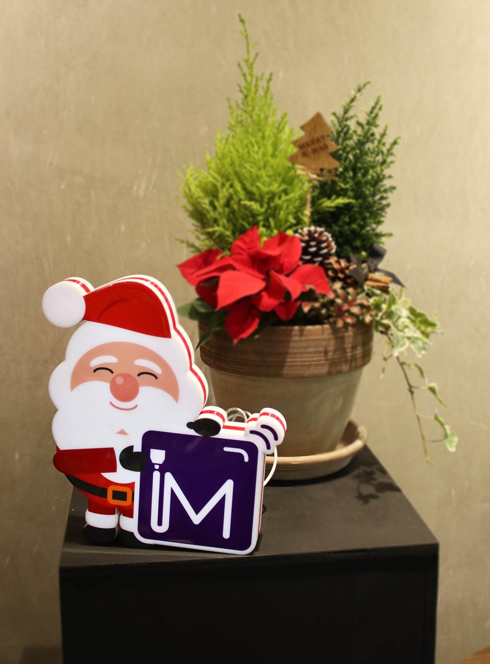聖誕老人 LED流動迷你燈箱