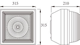 CEILING LIGHT Overall Dimensions