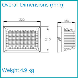 LED BULKHEAD LIGHT Overall Dimensions