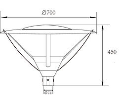GARDEN LIGHT Overall Dimensions