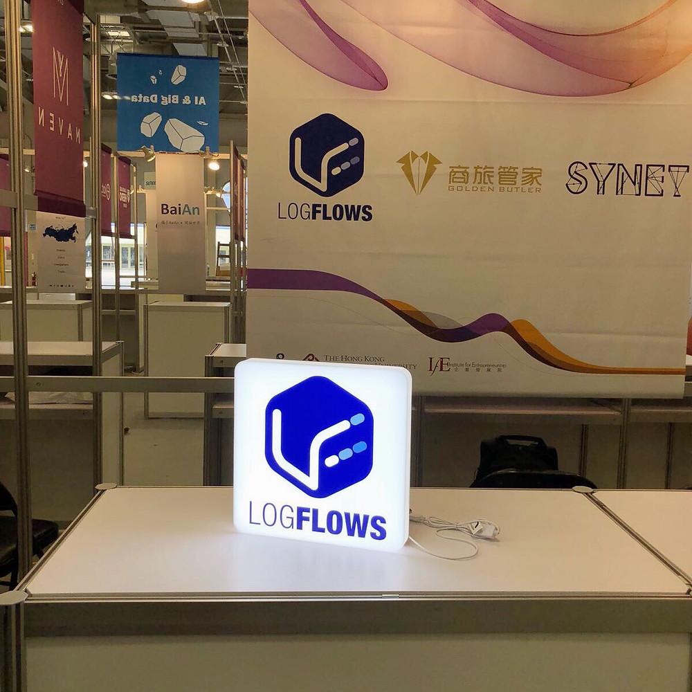 LOGFLOWS Logo燈箱 (台灣展覽會)
