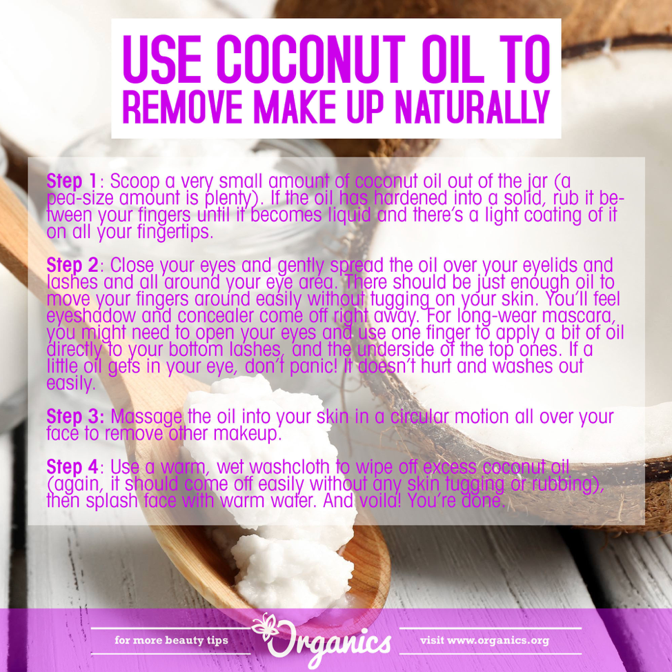 Coconut oil, make-up remover