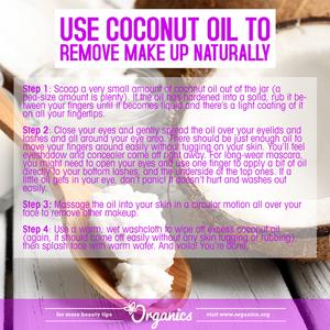 Coconut oil, make-up remover