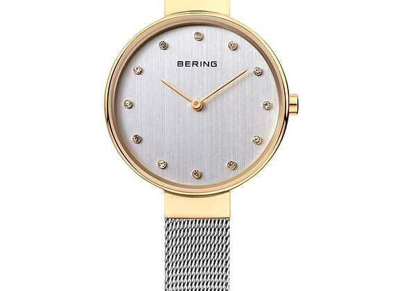 Reloj mujer clásico malla fina bicolor 12034-010