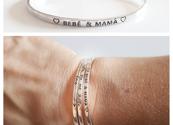 PULSERA RIGIDA: BEBE & MAMA (M) PUL1902-M