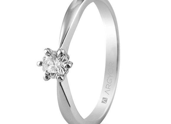 Anillo de compromiso 1 diamante 0.25ct (74B0016)