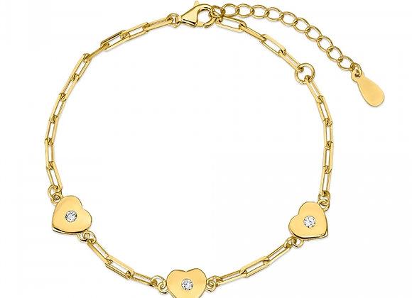 Pulsera plata dorada  Promojoya 9111481