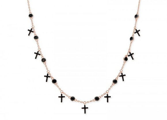 Colgante cruces plata y circonitas - LAD4502CL-RN