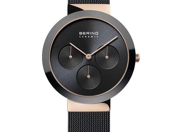 Reloj unisex clásico multifunción negro 35036-166