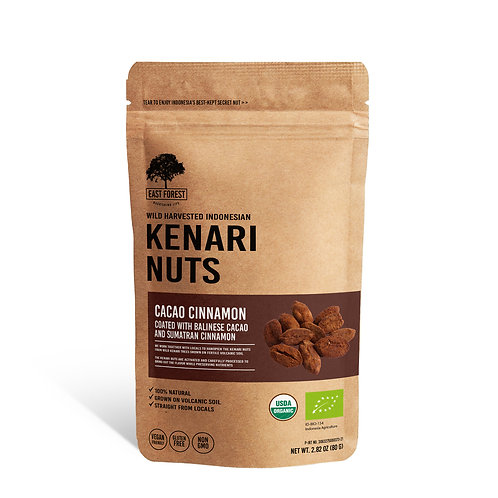 East Forest Kenari Nuts - Cacao Cinnamon - 2 Pack