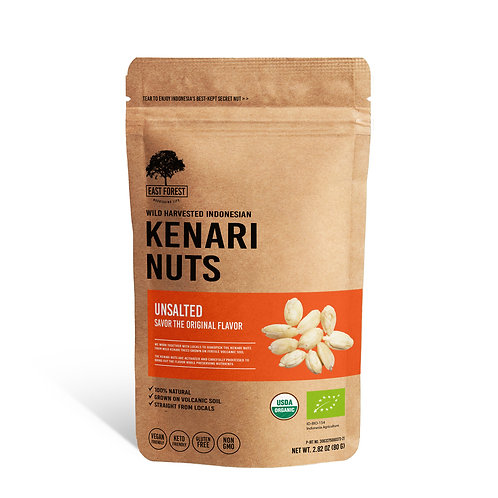 East Forest Kenari Nuts - Unsalted - 2 Pack