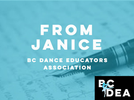 Letter from Janice (President) to All Members