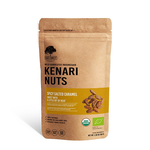East Forest Kenari Nuts - Spicy Salted Caramel - 2 Pack