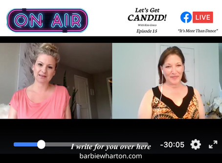 "I guested on ""Let's Get Candid"" with Kim Greco"