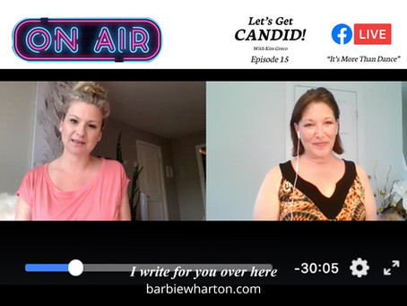 """I guested on """"Let's Get Candid"""" with Kim Greco"""