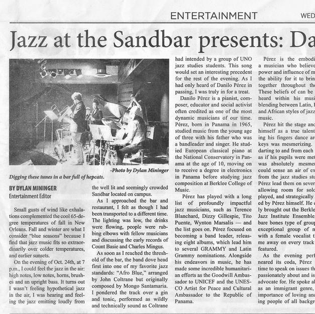 Danilo Perez Jazz at the Sandbar Fall 2018