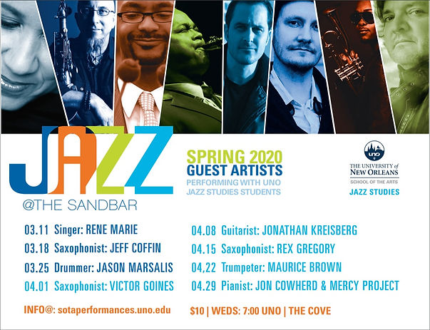 Jazz at the Sandbar Spring 2020 Flyer.jp