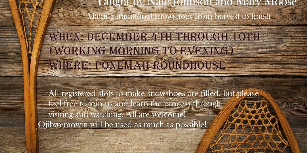 Aagimikeng- Snowshoe Making!