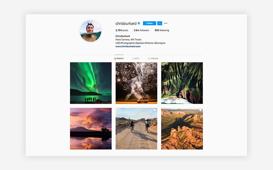 Chris Burkard best photographers on Instagram
